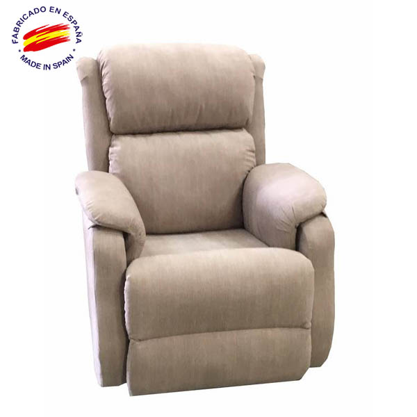 Sill n relax electrico reclinable olga colchoneria for Sillon relax gris